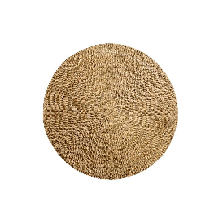 Natural fibre carpet Ø120 cm from Bloomingville made of sea grass