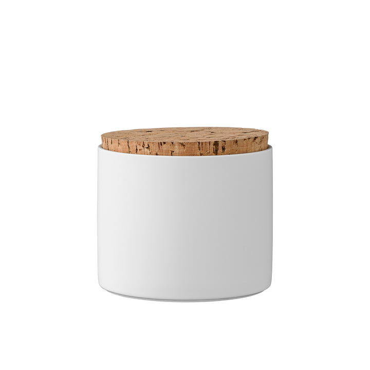 Storage Jar with Cork Lid H11.8 cm by Bloomingville in white