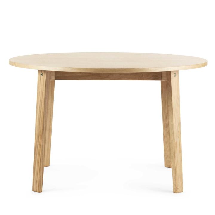 Slice table wood Ø 120 cm by Normann Copenhagen in oak