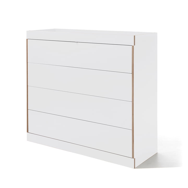 Flai Chest of Drawers with drawers by Müller Möbelwerkstätten in White