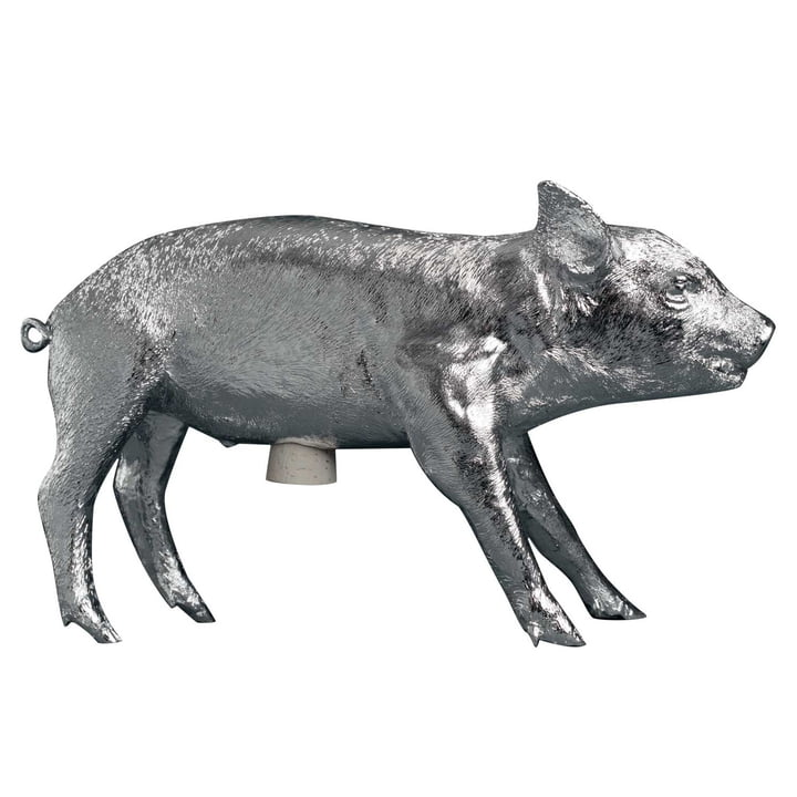 Areaware - Pig Bank, chrome