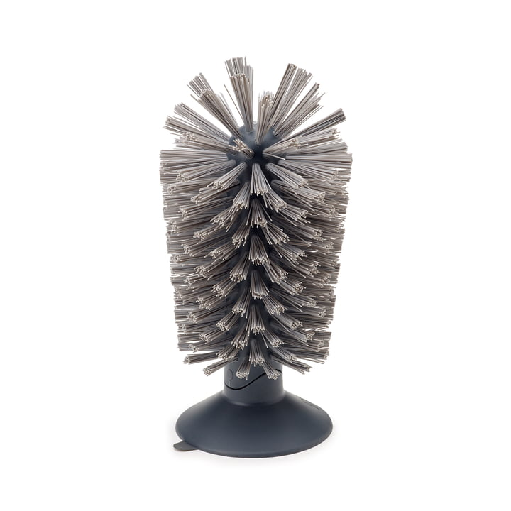 Brush-up suction cup brush by Joseph Joseph in Grey