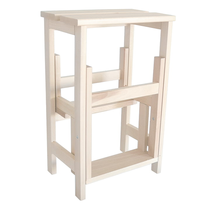 Step Stool from Radius Design made of beech wood in white
