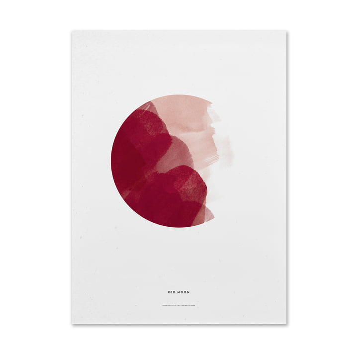 Poster Red Moon by Paper Collective
