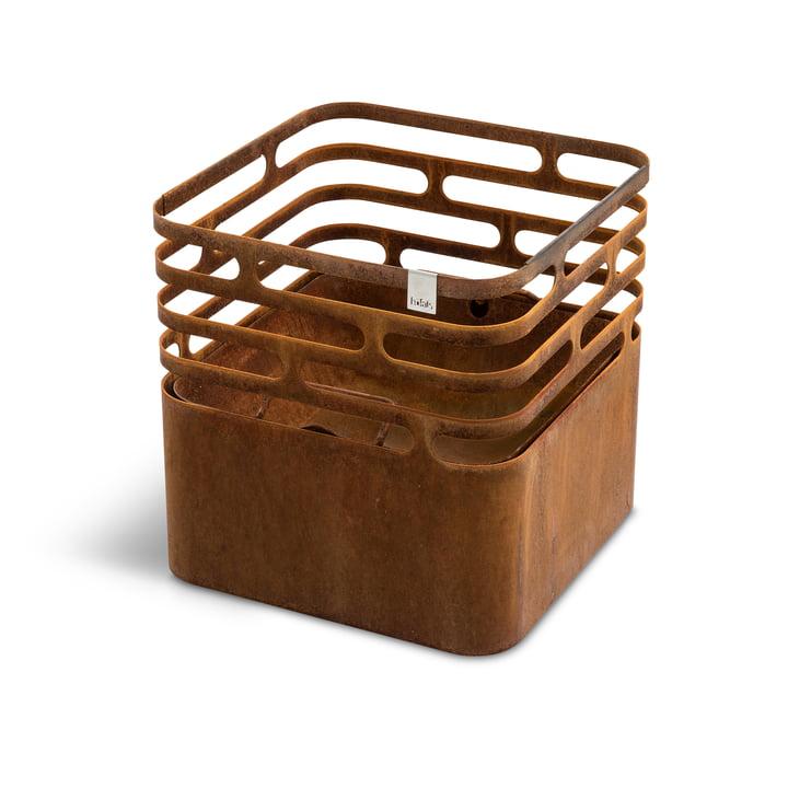 Höfats - Cube fire basket, rust