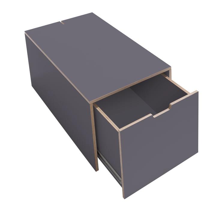 Bedding Box 16 by Müller Möbelwerkstätten in Anthracite