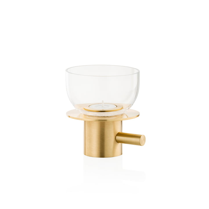 Tea Light Holder by Fritz Hansen in Brass / Glass