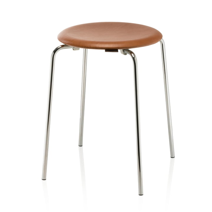 Fritz Hansen - Dot Stool, leather / chrome