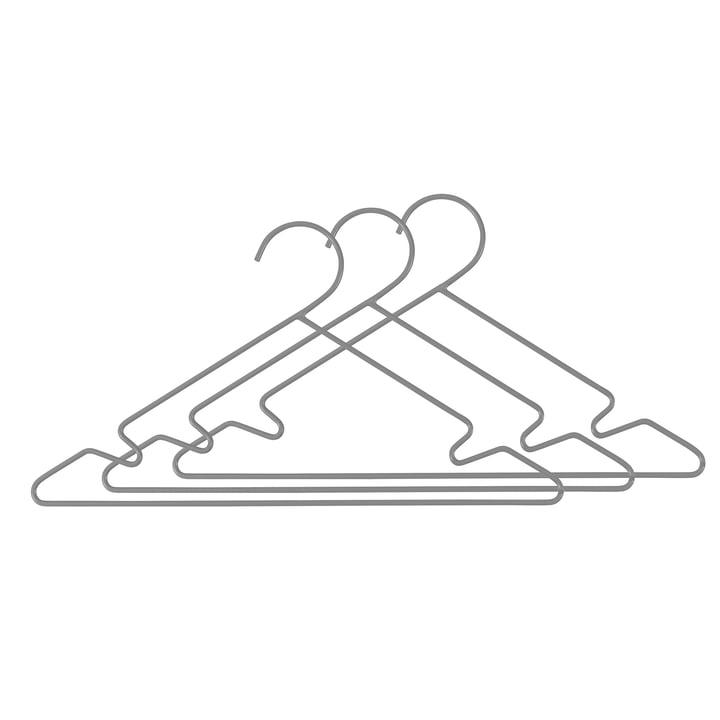 Metal Kids Hangers (set of 3) by Sebra in Grey