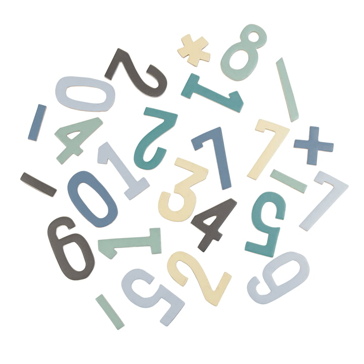Magnetic Numbers from Sebra in Blue Shades