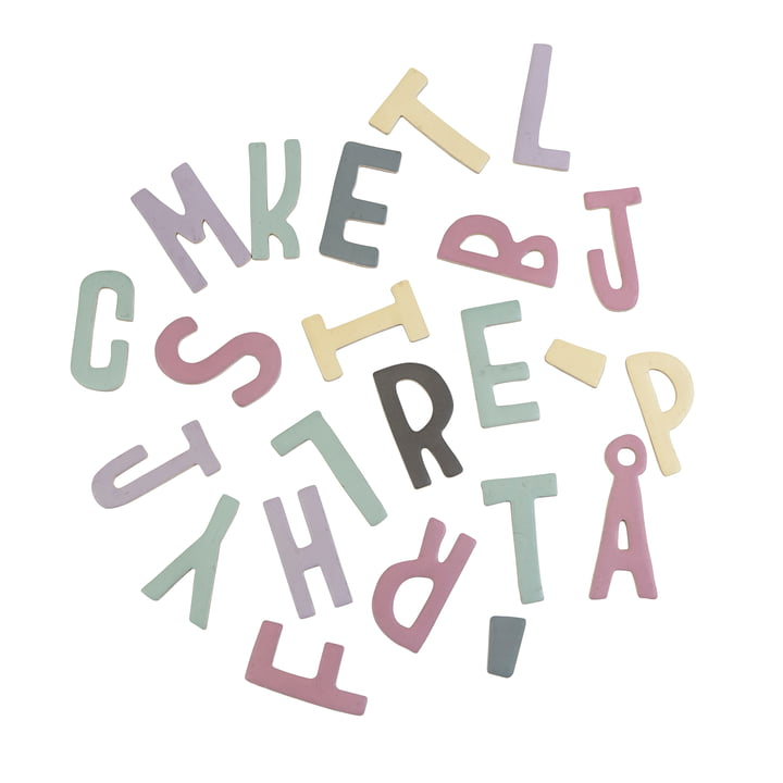 Magnetic Letters from Sebra in Pink Shades
