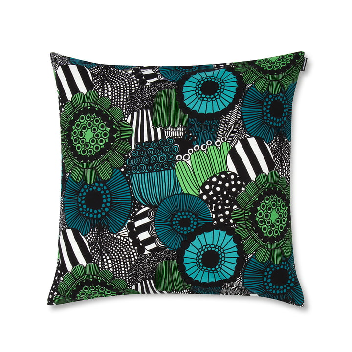 The Marimekko - Pieni Siirtolapuutarha Cushion Cover 50 x 50 cm, green / blue / black
