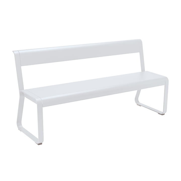 Bellevie Bench with Backrest from Fermob in Cotton White