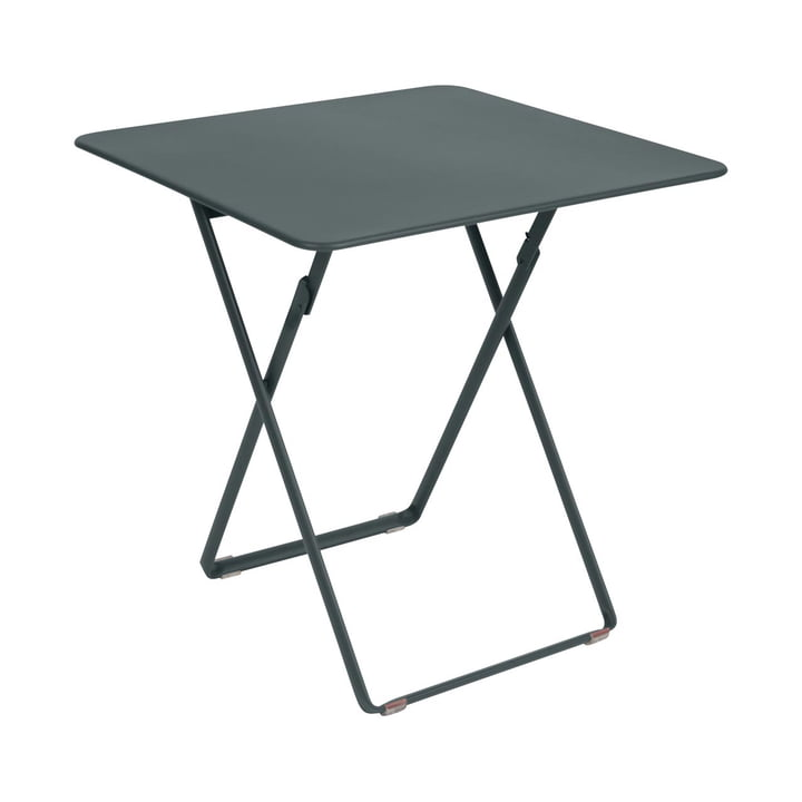 Plein Air Table 71 x 71 cm by Fermob in Storm Grey