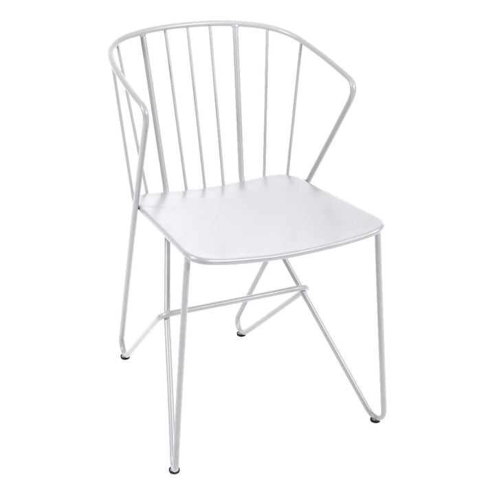 Flower Armchair by Fermob in Cotton White