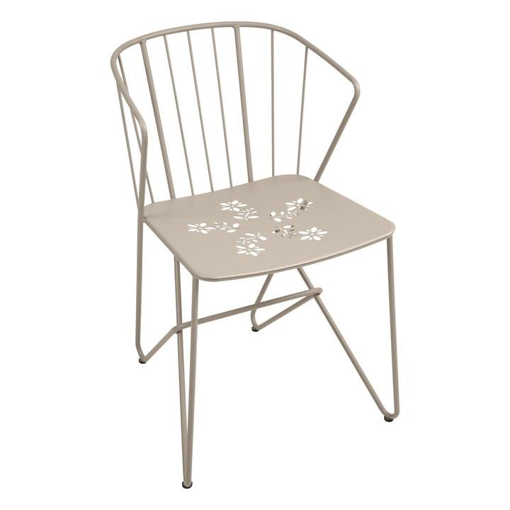 Fermob - Flower Armchair with perforation, nutmeg