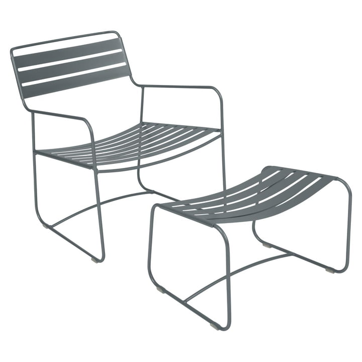 Fermob - Surprising Lounger + Footstool in Storm Grey