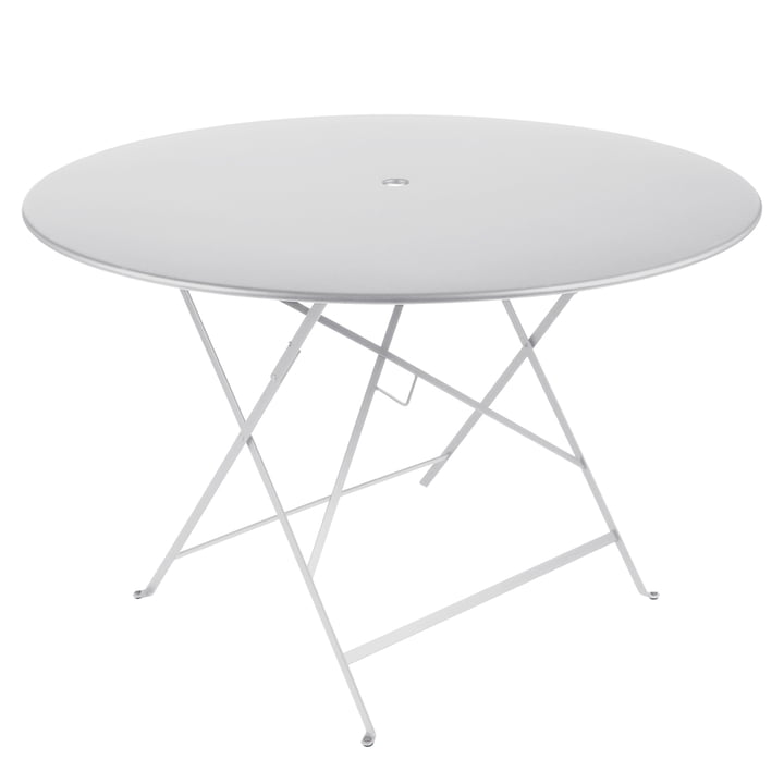Bistro Folding Table Ø 117 cm by Fermob in Cotton White