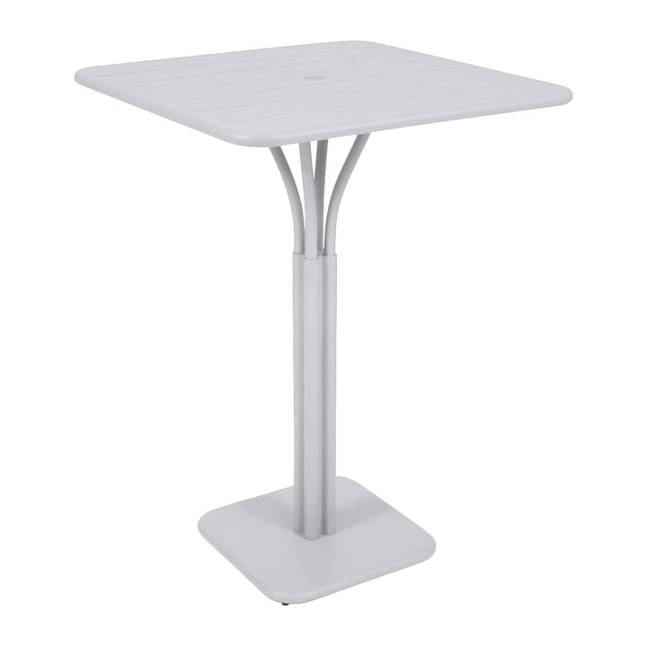 Luxembourg high table 80 x 80 cm by Fermob in Cotton White