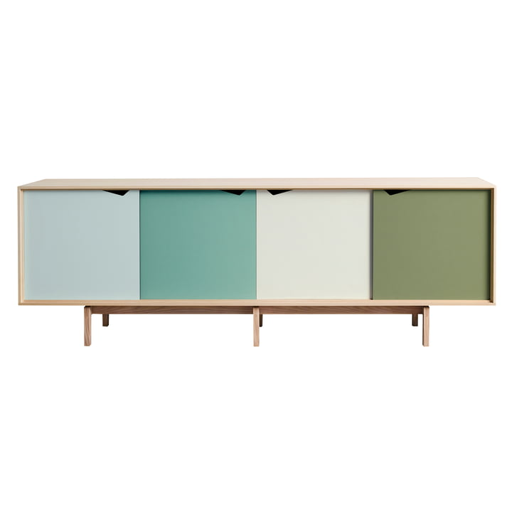 S1 Sideboard by Andersen Furniture in soaped oak (doors Dali, Capri, Alpino, Pale Olive)