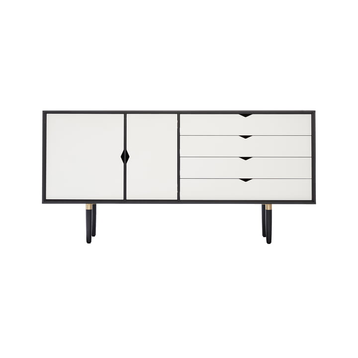 S6 Sideboard by Andersen Furniture in Oak black lacquered / Doors white