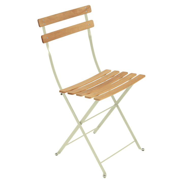 Fermob - Bistro Folding Chair Natural, willow green