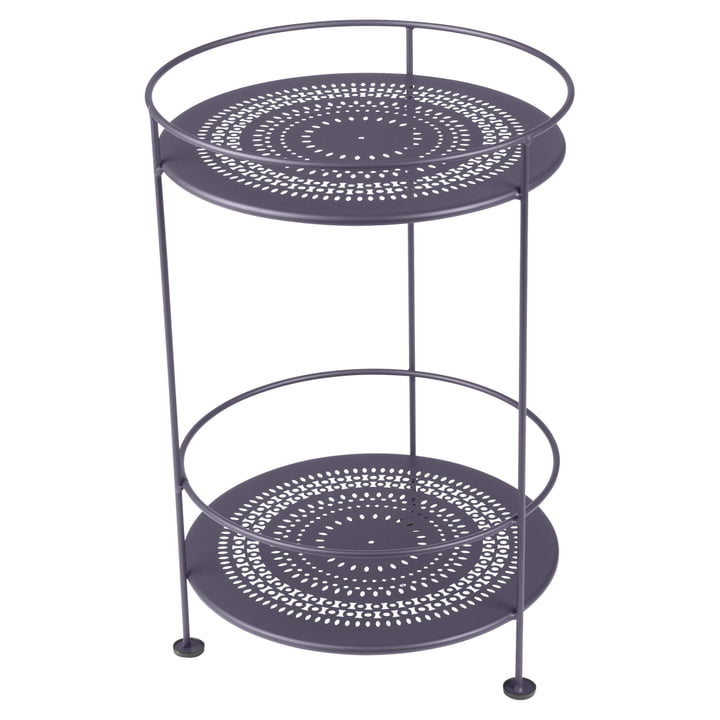 Guéridons Side Table with Perforated Top by Fermob in Plum
