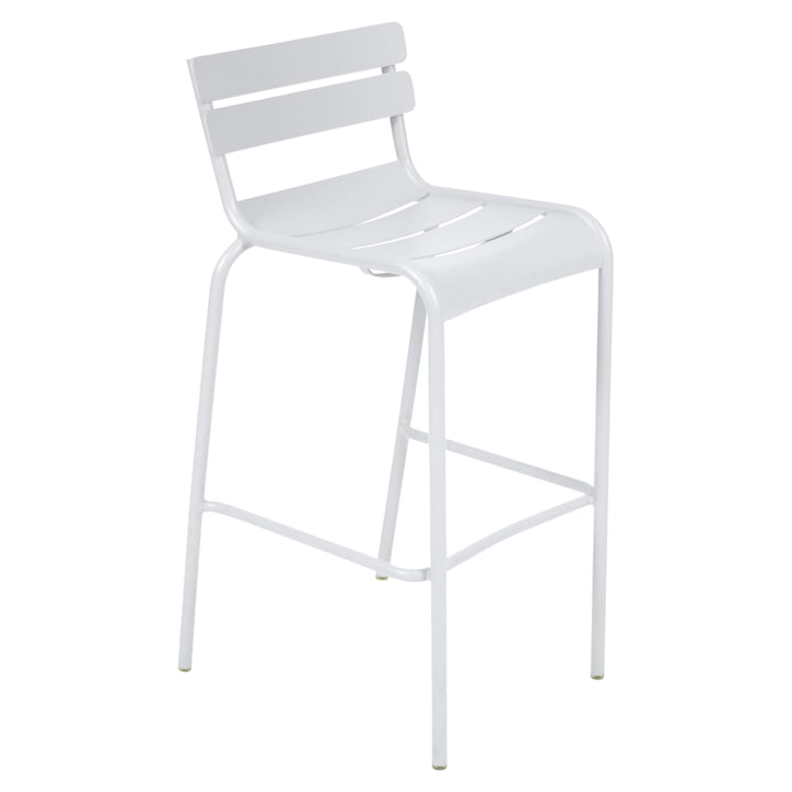 Luxembourg Bar Stool by Fermob in Cotton White