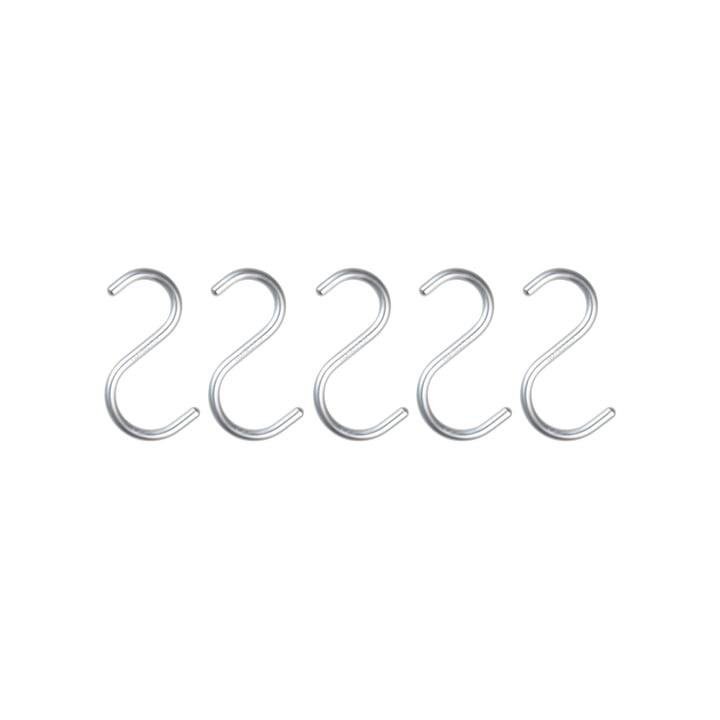 Nomess - S-Hook, mini, aluminium silver, set of 5