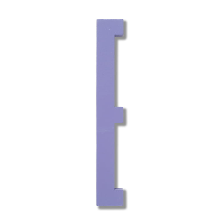 Design Letters - Wooden Letters Indoor E in purple