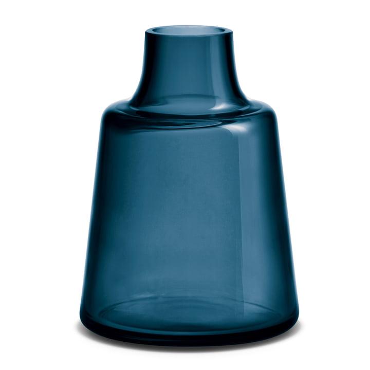 Holmegaard - Flora Vase, short neck, 24 cm, blue