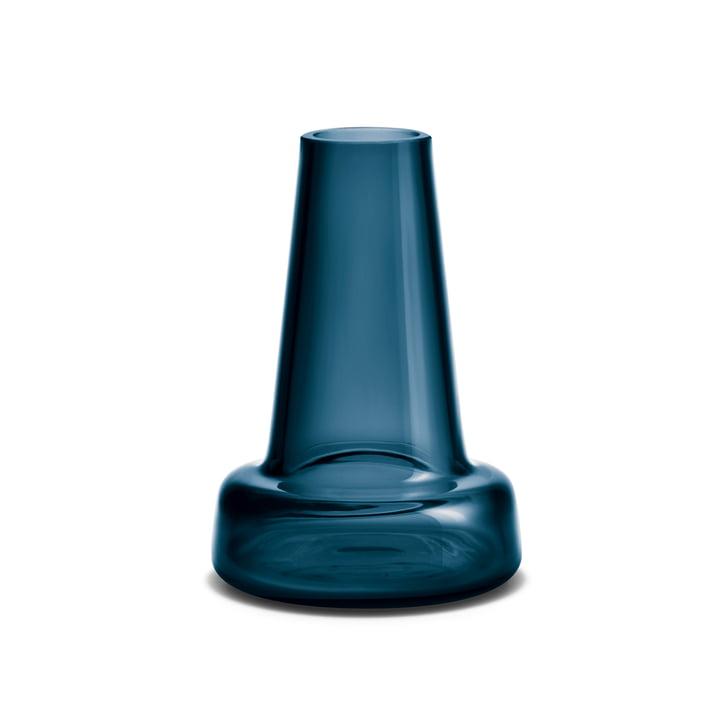 Holmegaard - Flora Vase, long neck, 12 cm, blue