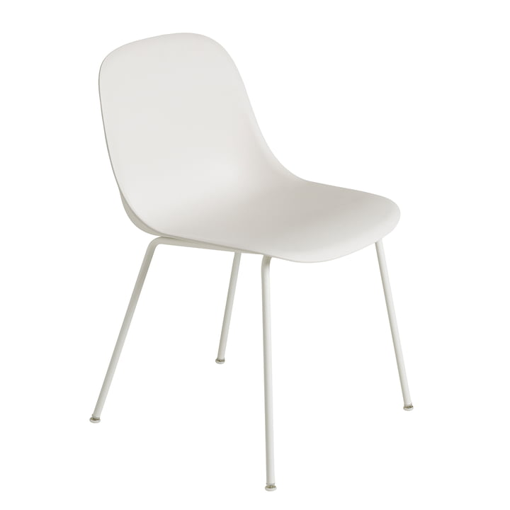 Fiber Side Chair - Tube Base by Muuto in natural white / white