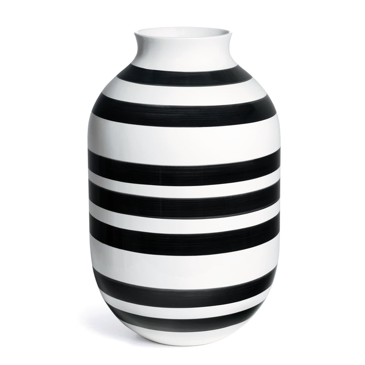 Omaggio Vase, H 50 cm from Kähler Design in Black / White