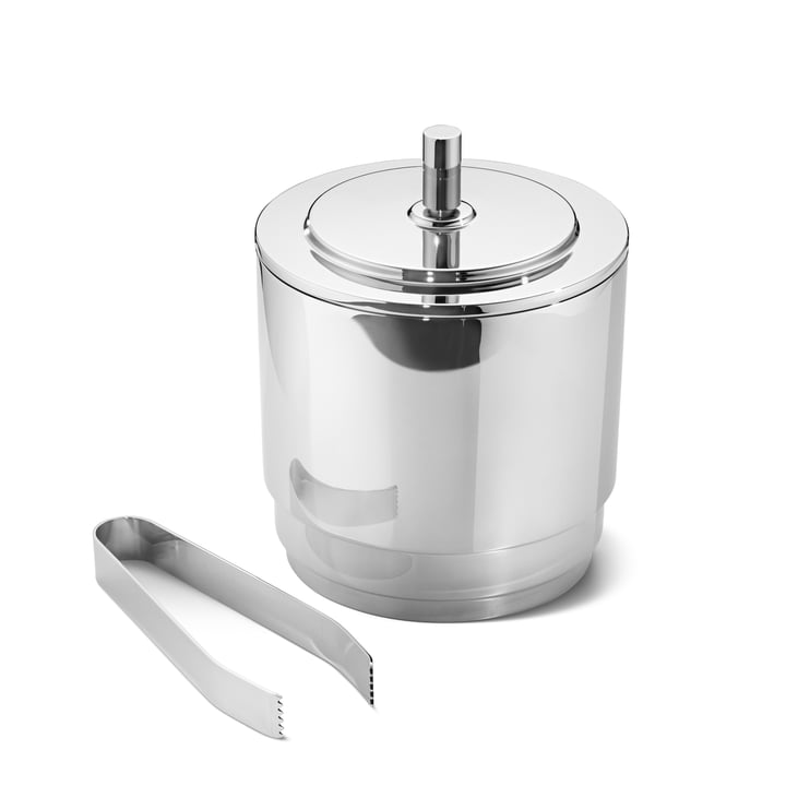 Manhattan ice bucket with Tongs by Georg Jensen