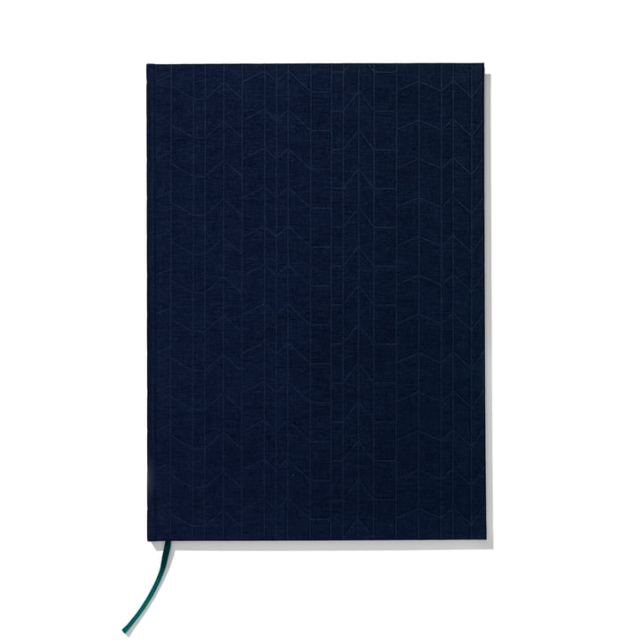 Hardcover notebook A4, navy blue / petrol