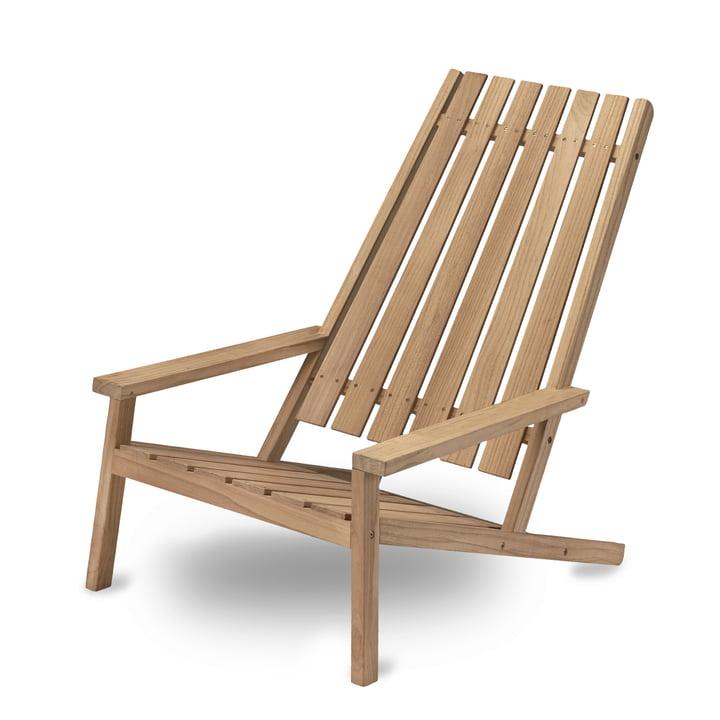 Between Lines Deck Chair by Skagerak made of Teak