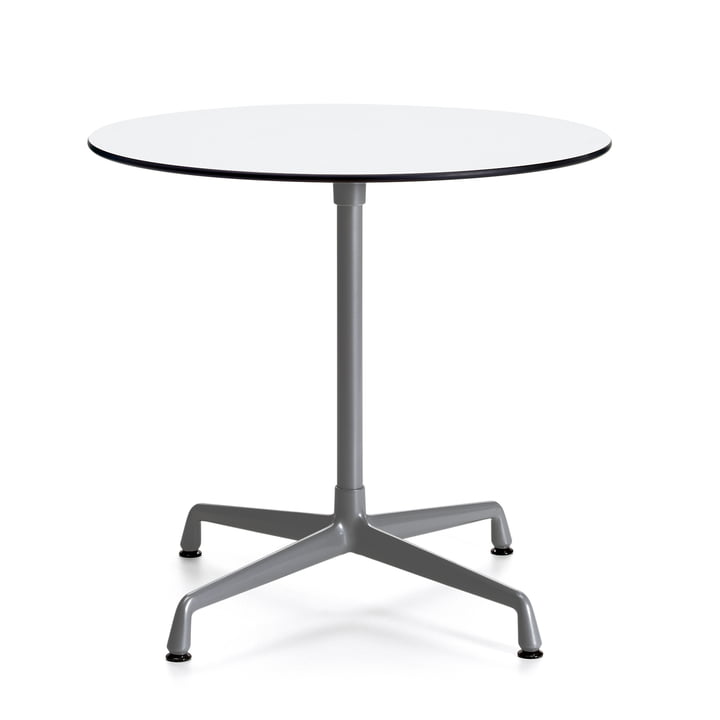 Contract Table Outdoor Round by Vitra in White/ Dark Grey