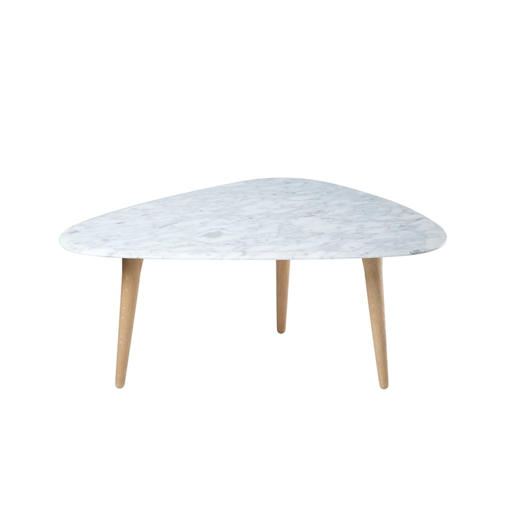 red edition - Fifties side table, oak / marble