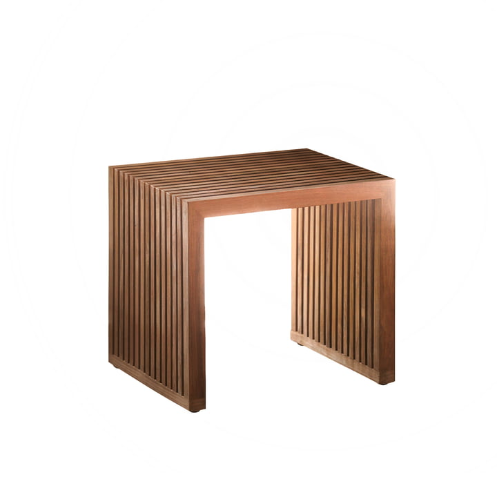 Tivoli Stool by Jan Kurtz out of teak wood