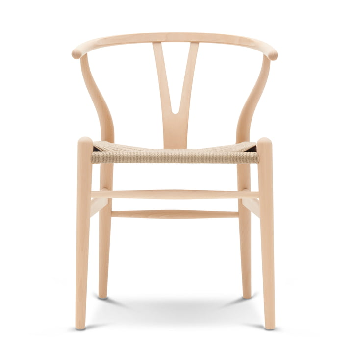 CH24 Wishbone Chair by Carl Hansen in beech soap / natural mesh