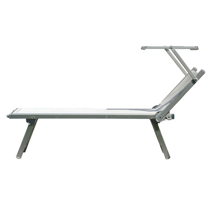 Rimini Classic Deck Chair by Jan Kurtz in Aluminium / White