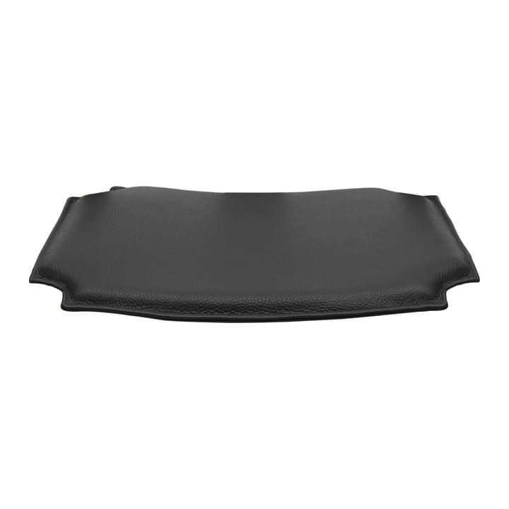 Leather cushion for CH24 Wishbone Chair by Carl Hansen in black