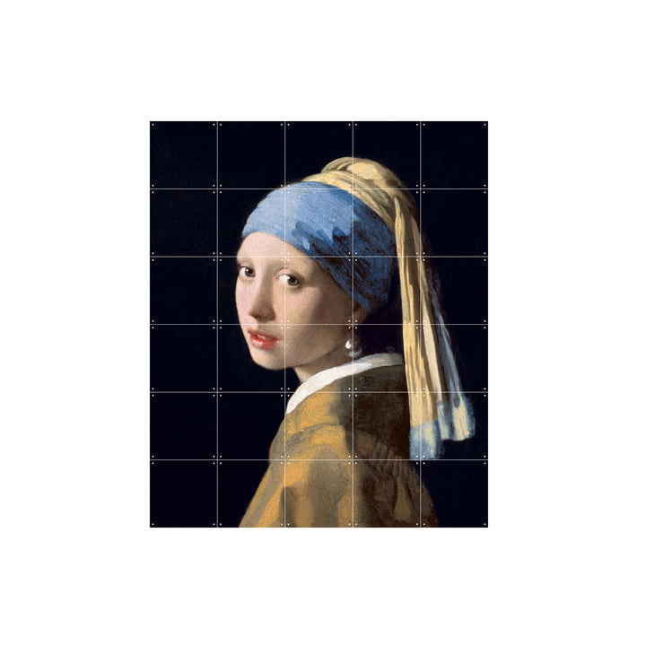 Girl with a Pearl Earring (Vermeer) by IXXI in 100 x 120 cm