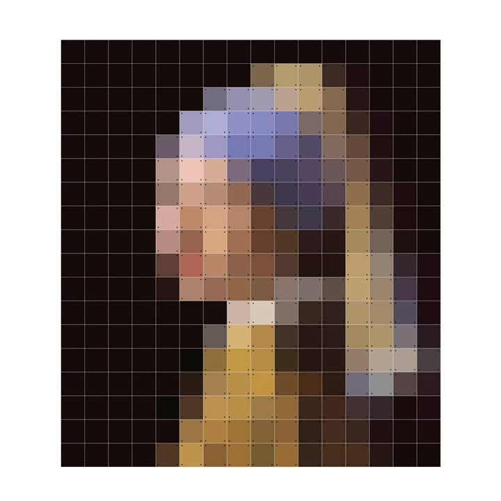 IXXI - Girl with a Peal Earring (Pixel) by IXXI in 224 x 252 cm
