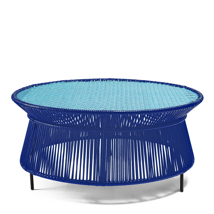 ames - caribe Low Table, blue / mint / black