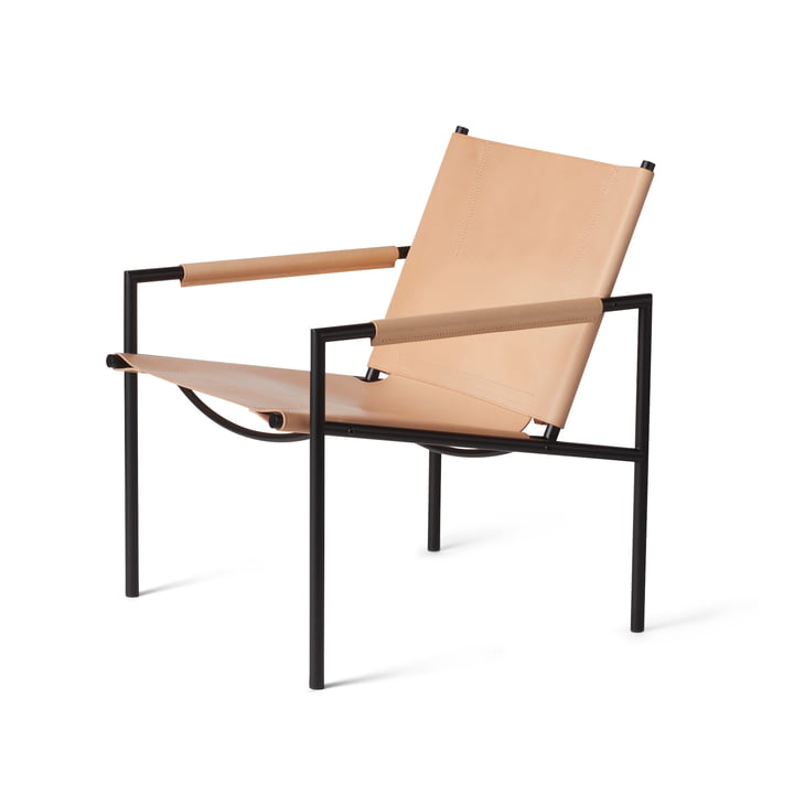 Spectrum - SZ 02 Easy Chair, black / natural core leather