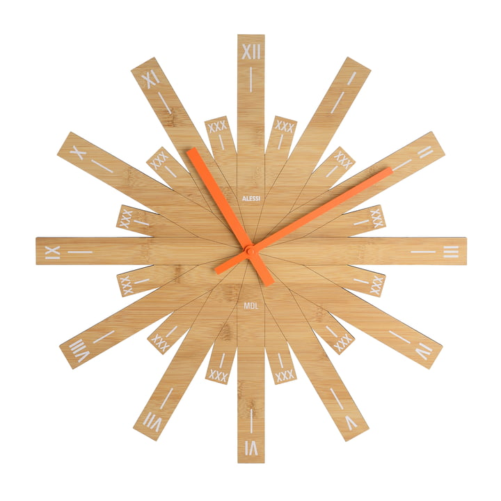 Raggiante wall clock by Alessi