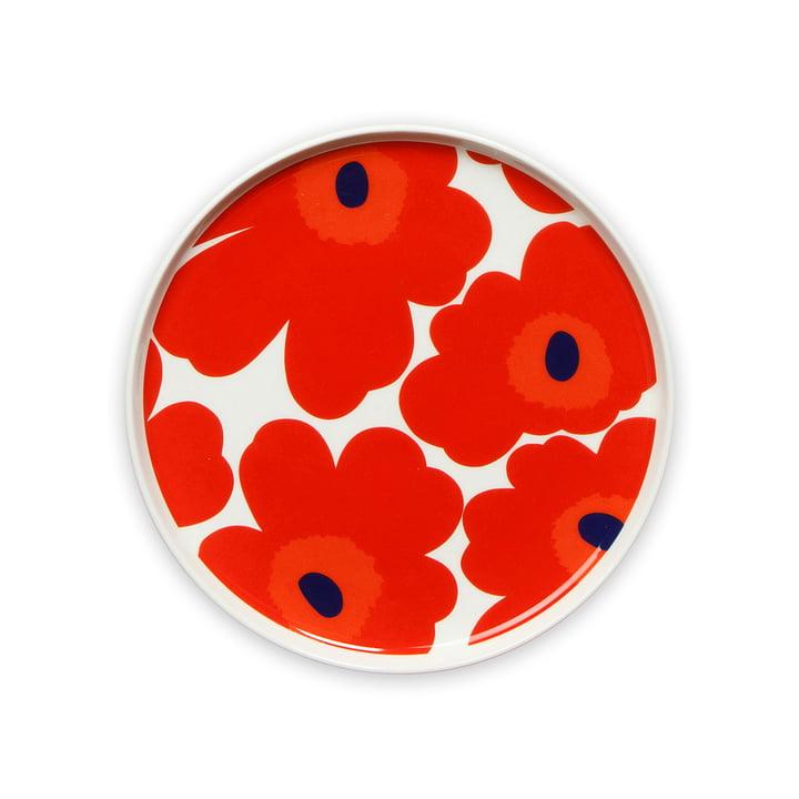 Oiva Unikko Plate Ø 20 cm by Marimekko in red