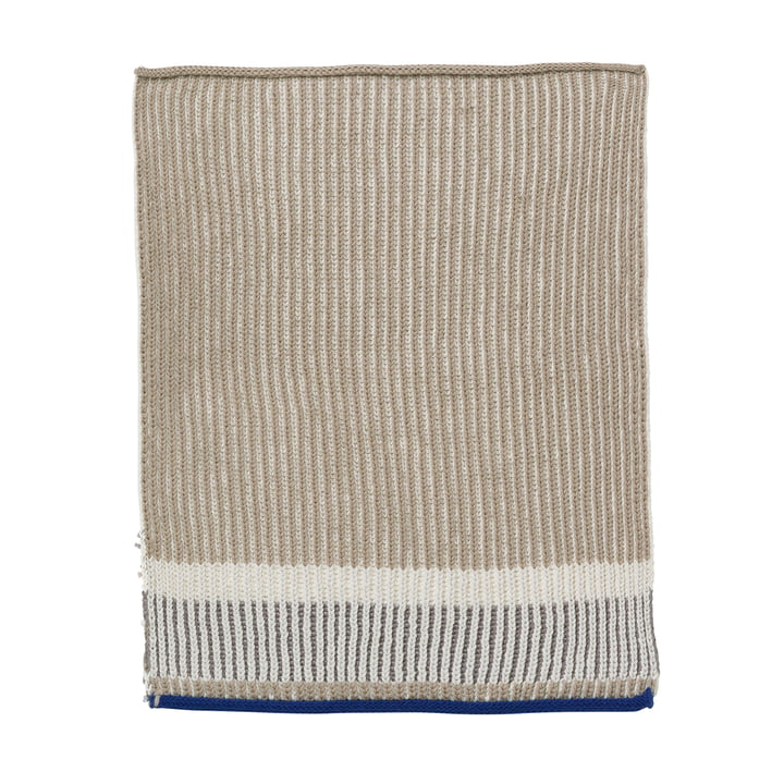 Akin Knitted Tea Towel by ferm Living in Beige